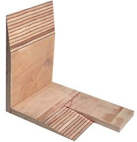 Scarf jointed plywood