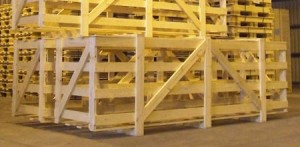wooden cages