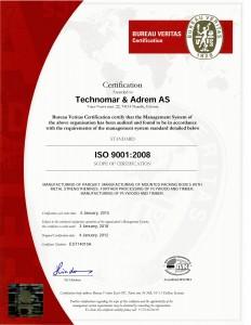 iso certificate technomar & adrem